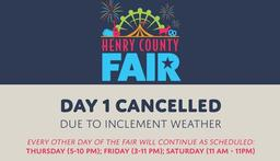 The first Henry County Fair was supposed to open today!